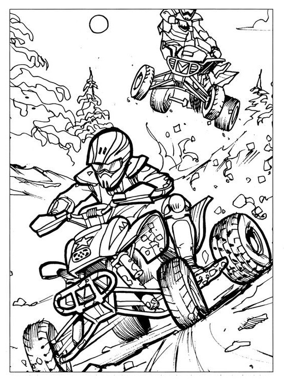 ATV Racing coloring page