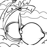 Coconut Coloring and Activity Pages