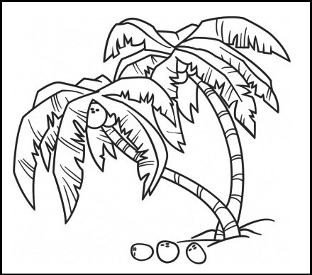 A Great Pack of Coconut Coloring Pages - Coloring Pages