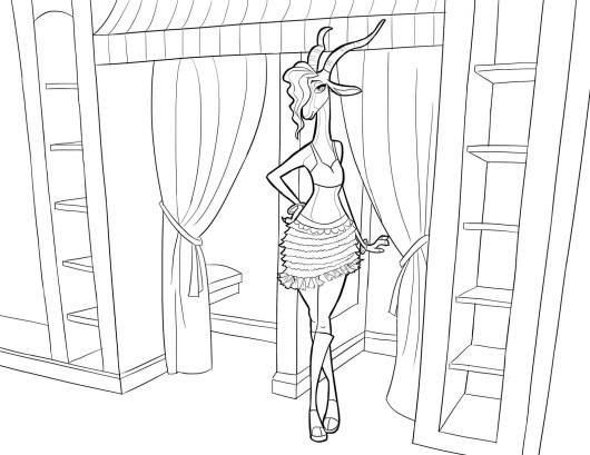 Gazelle from Zootopia Disney coloring sheet