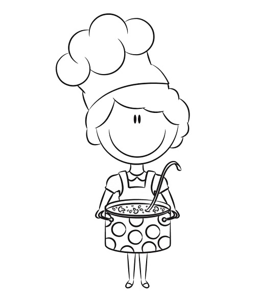 Innovative Chef coloring page