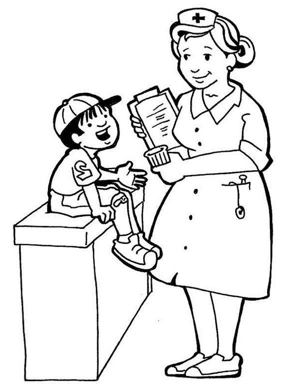 Nurses Diagnosis Coloring Page