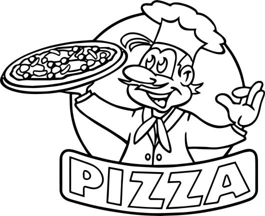 Pizza Coloring Pages for Small Children - Coloring Pages