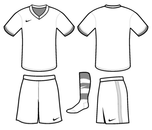 Soccer Jersey Nike Coloring and Drawing Page