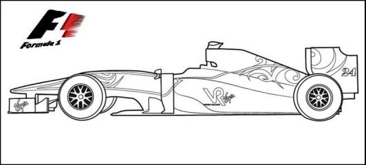 Formula 1 Racing Cars Coloring