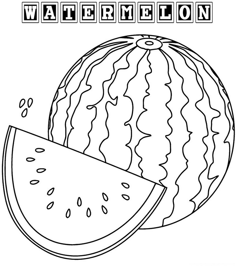 Watermelon Coloring Book For Kids