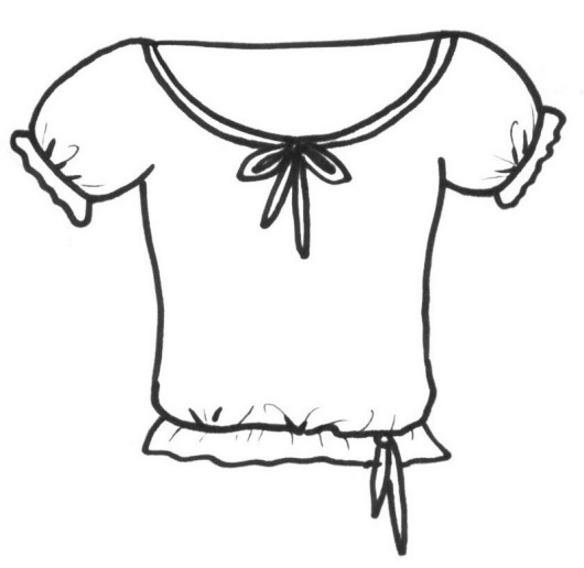 coloring pages of a shirt | Blank T-shirt Coloring Pages - Coloring Pages