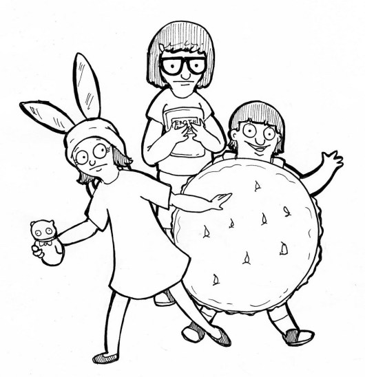 bobs burgers family coloring book