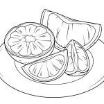 citrus fruits coloring page online