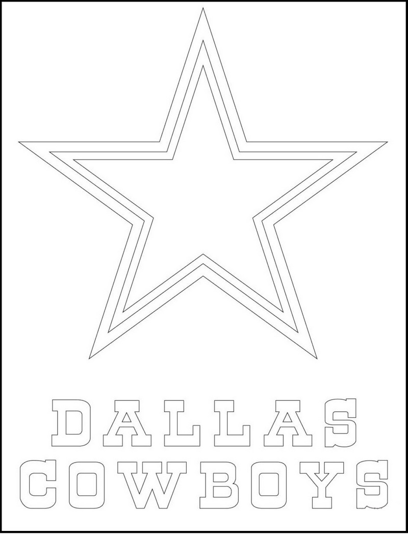 dallas cowboys from NFL Coloring logo Pictures