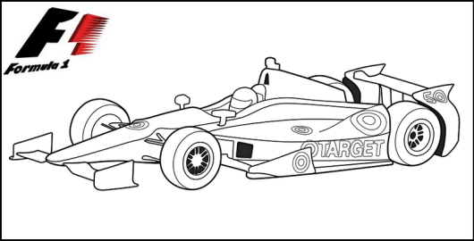 Formula 1 Racing Cars Coloring Pages - Coloring Pages