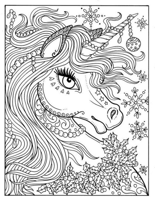 The Incredible Of Myth Of The Unicorn Coloring Sheet