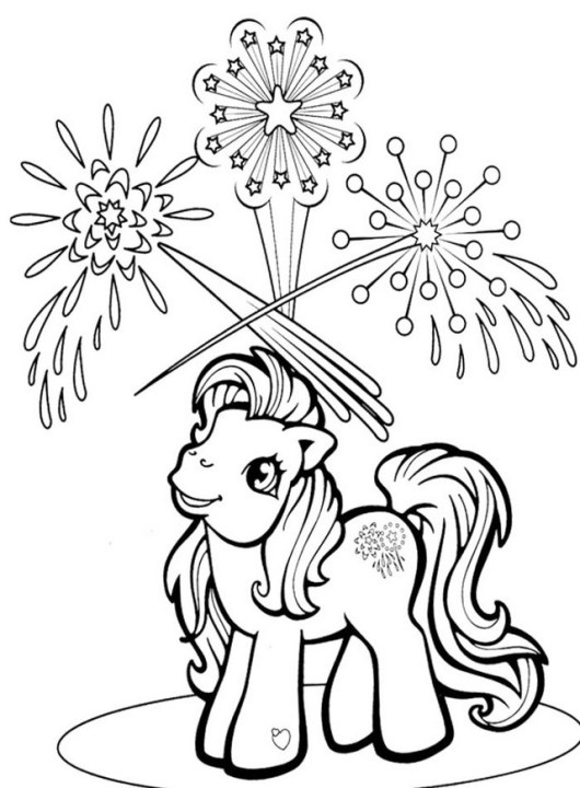 my little pony fireworks coloring page