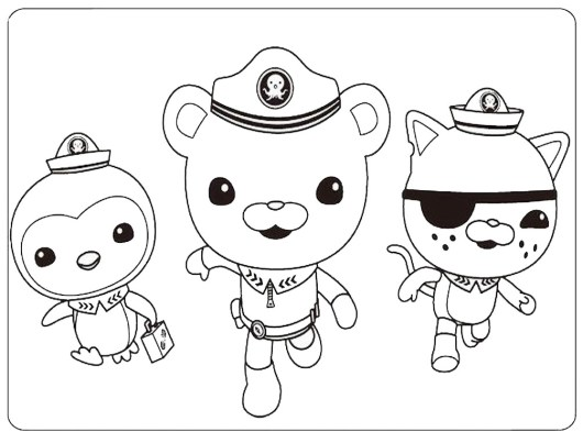 octonauts coloring pages all characters - photo#4