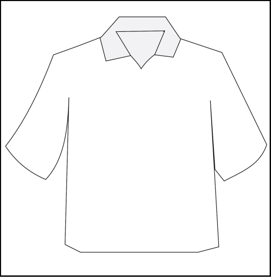 polo blank t shirt coloring and activity page