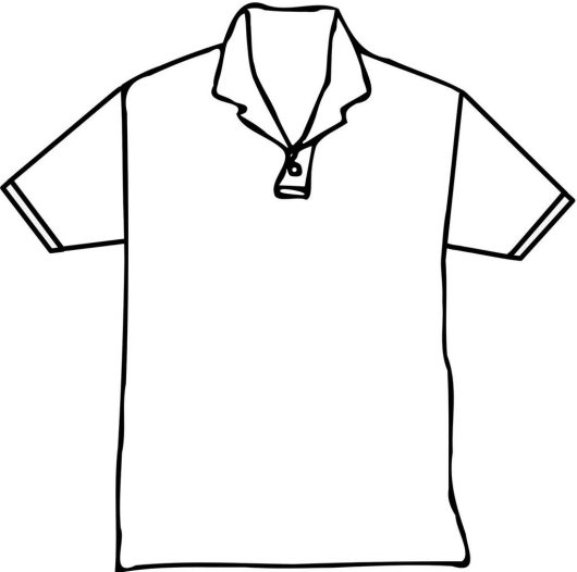 polo t shirt short coloring page