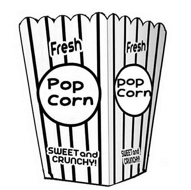pop corn packaging coloring sheet