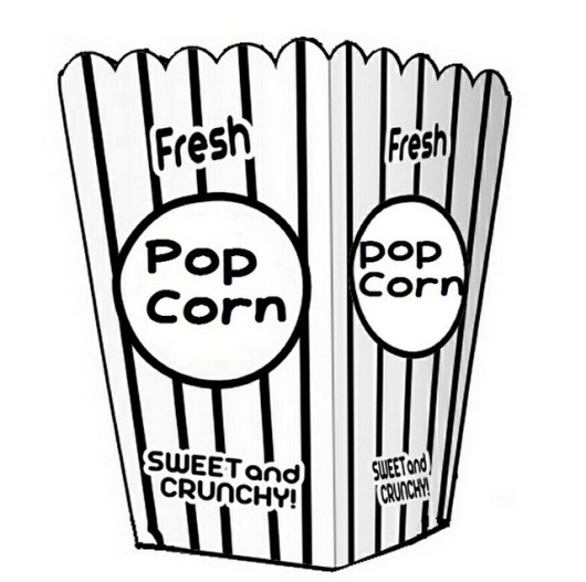 pop corn packaging coloring sheet