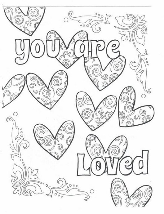 quote you are loved coloring sheet
