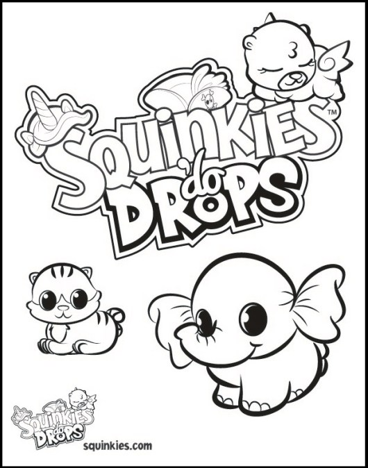 squinkies coloring pages online - photo#22