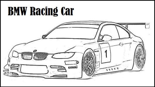 BMW Racing Car Coloring Page