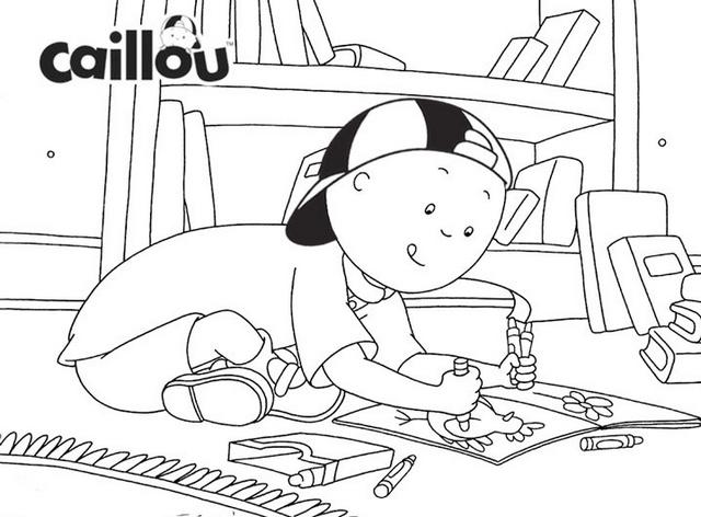 Caillou coloring book printable