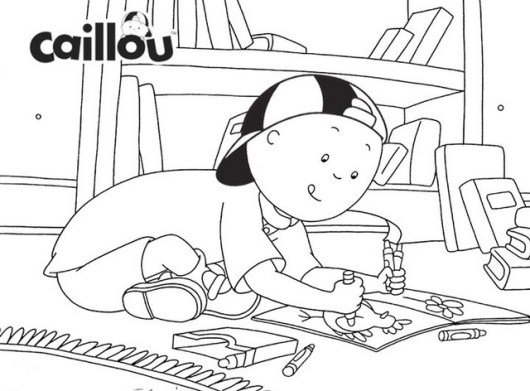Caillou coloring book printable