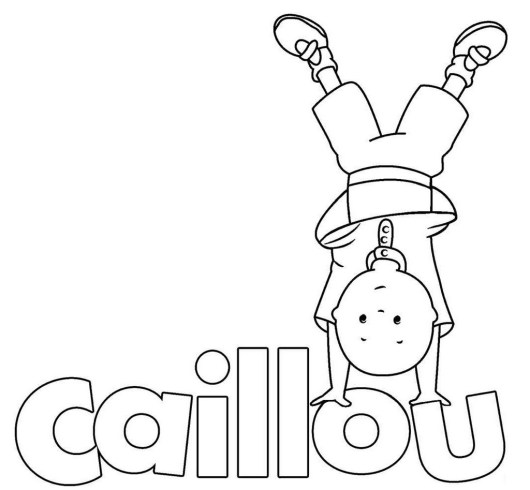 Caillou coloring picture for toddlers