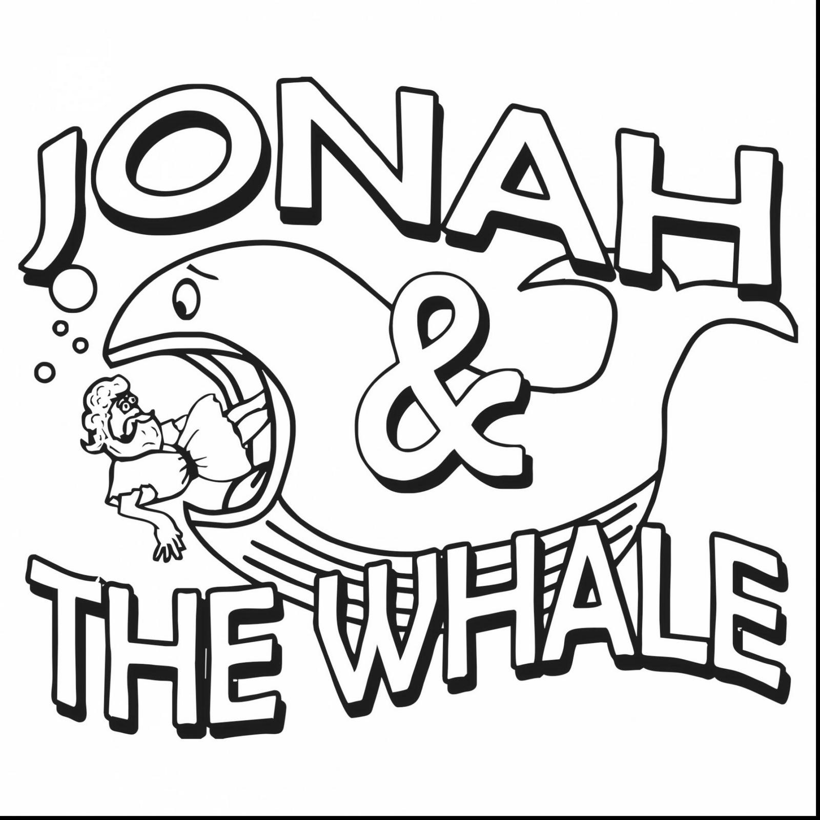 Jonah And The Whale Coloring Book For Kids