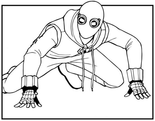 Venom suit coloring sheet for all ages