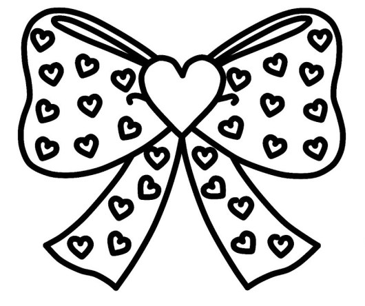 cute bow coloring printable page