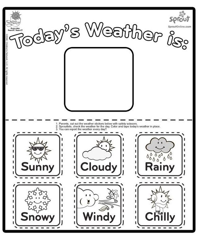 different kinds of weather coloring page