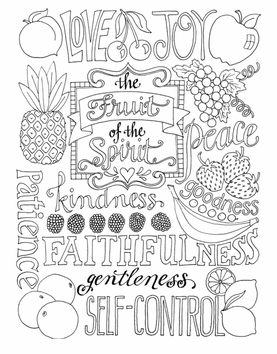 fruit of the spirit coloring picture