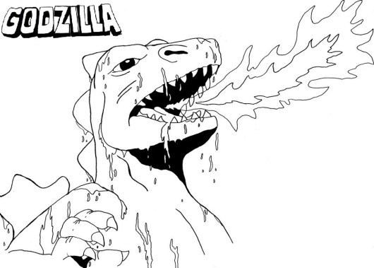 Come to Godzilla Coloring Pages and Meet these Amazingly Giants in ...