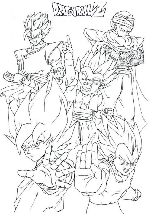 goku dragon ball z coloring pages super 4 gt picture