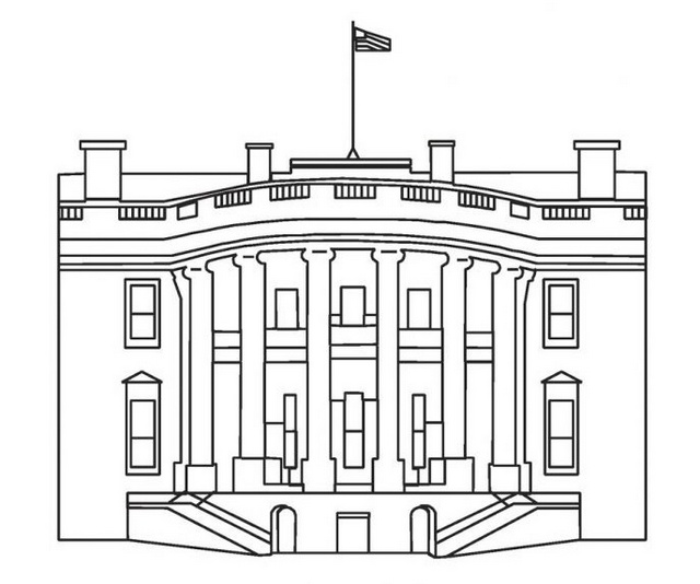 history of the white house coloring sheet for children