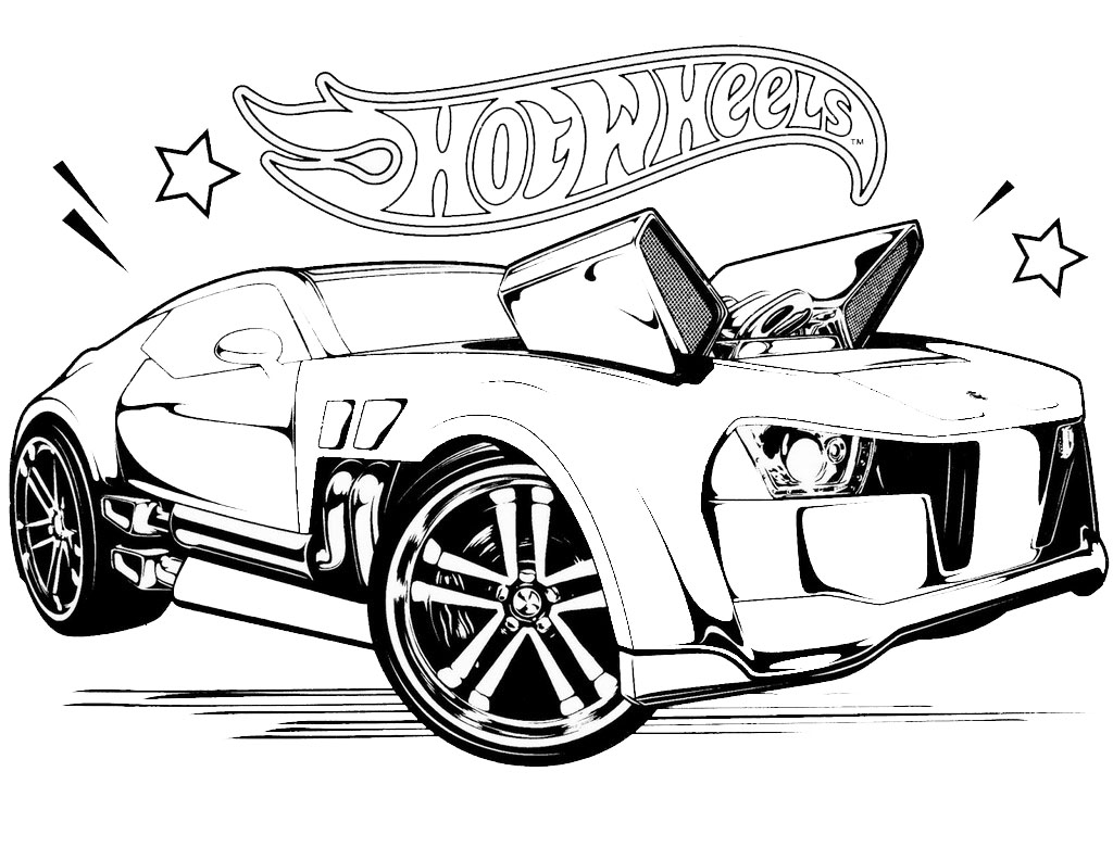 hot wheels coloring sheet collection
