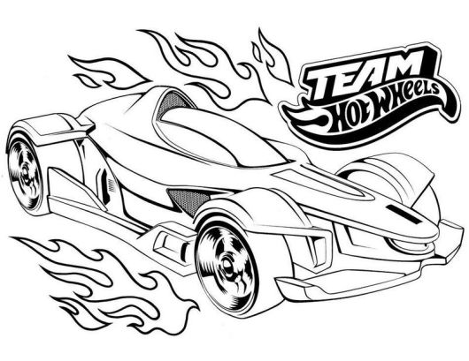 hot wheels marvel coloring printable page