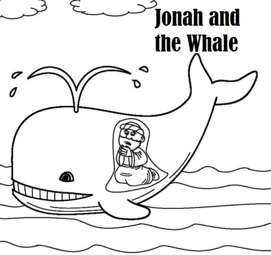 jonah and the whale coloring book