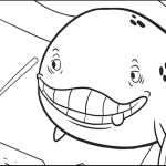 jonah and the whale in the bible coloring page