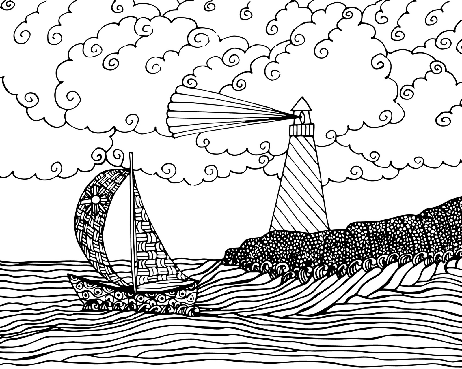Lighthouse Coloring Page Printable