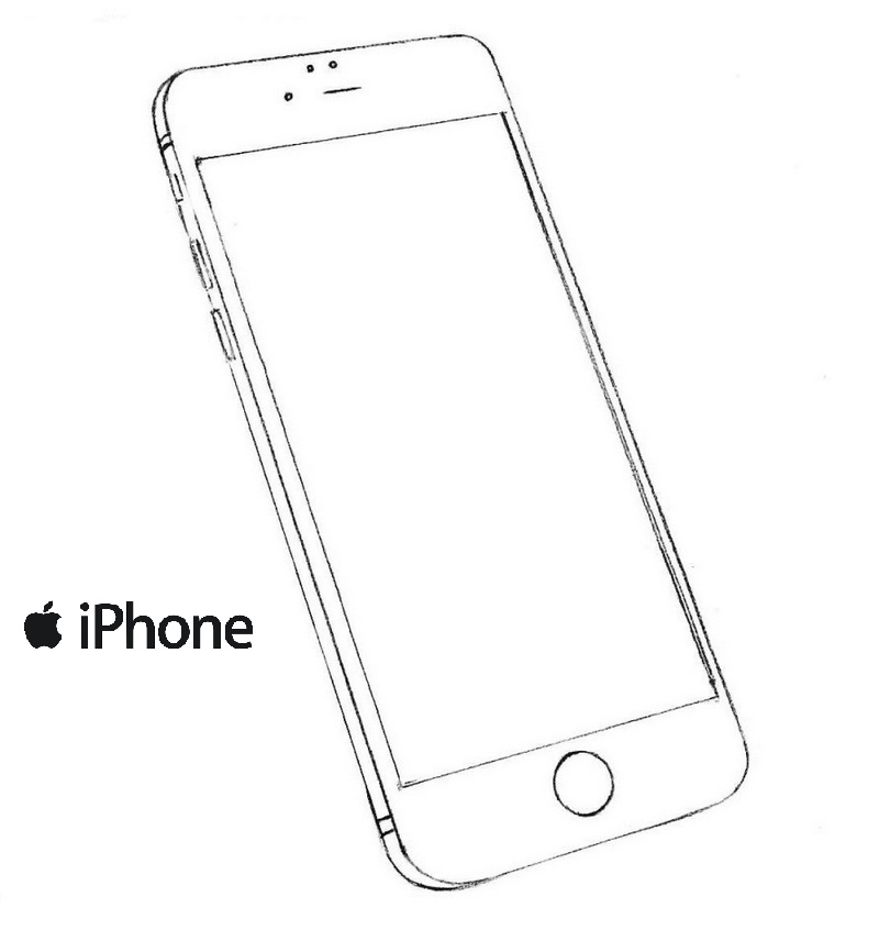 new iphone model coloring picture