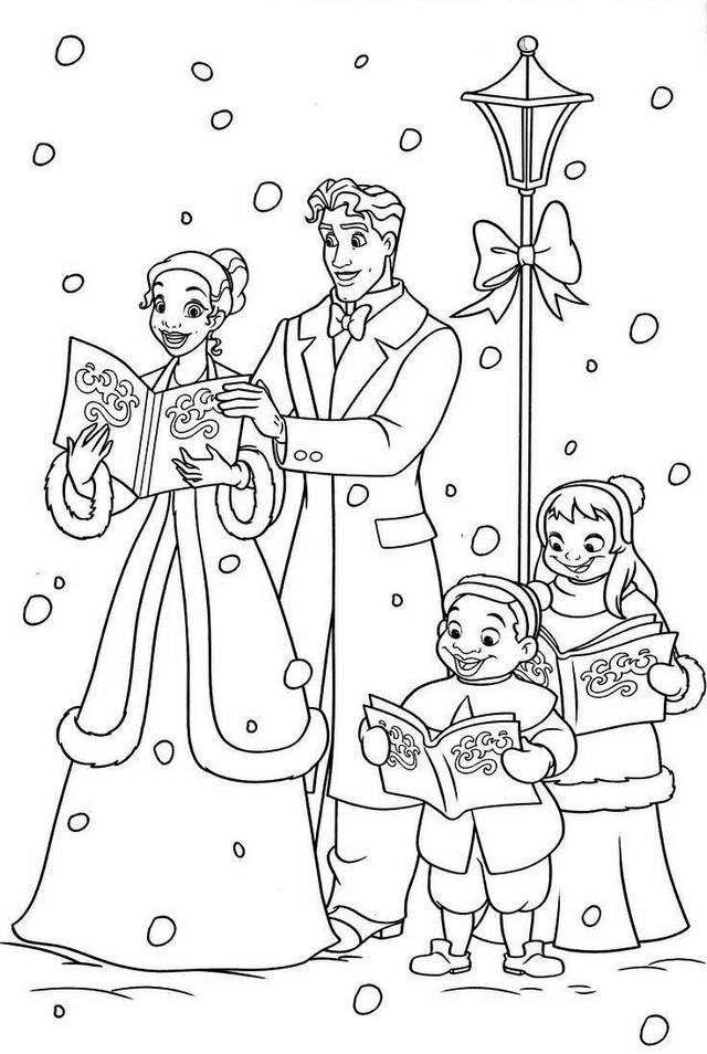 princess tiana and naveen coloring pages