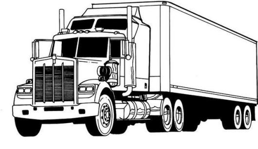 Semi Truck Coloring Page Designs - Coloring Pages
