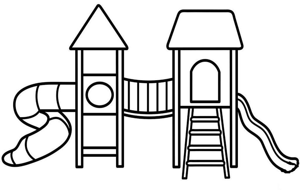 sliding park playground coloring book