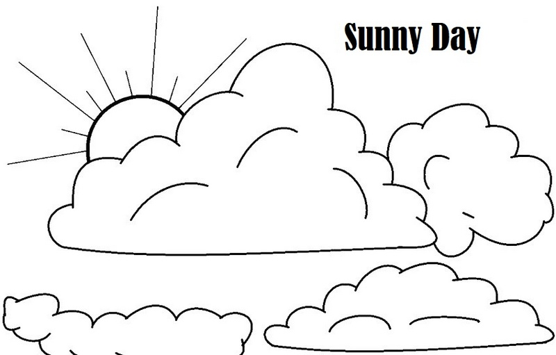 sunny day weather conditions coloring printable page