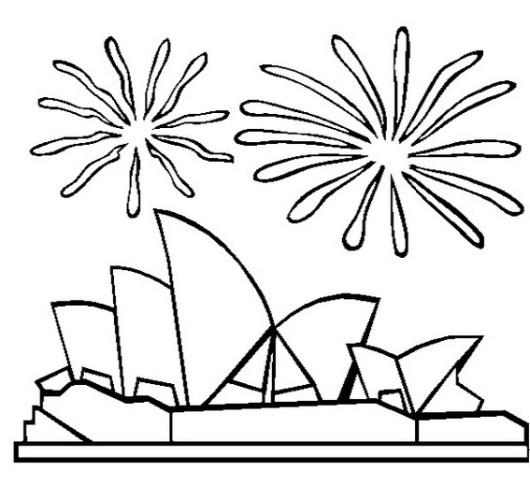sydney opera house australia coloring page