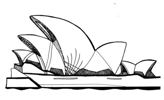sydney opera house coloring book printable
