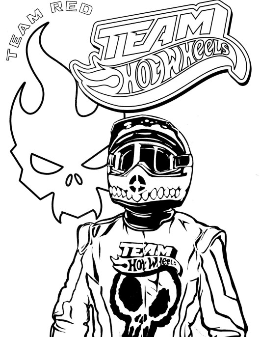 team hot wheels coloring picture