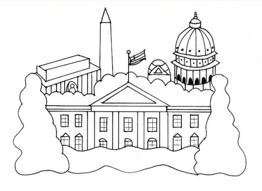 white house coloring page. the white house coloring sheet for kids Vibrant White House Coloring Page Ideas a Creative